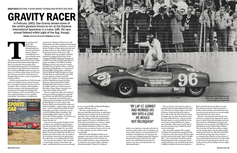Dan Gurney 1962 Daytona Hour